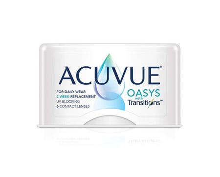 Acuvue Oasys Transitions - 6 lenses