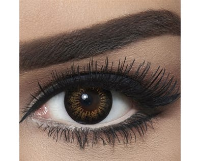 Bella Snow White - Brown - 2 lenses