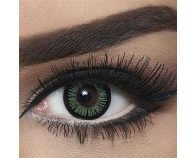 Bella Snow White - Turquoise - 2 lenses
