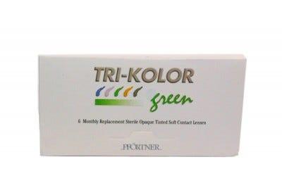 Trikolor disposable Plano - 6 lenses & 3x120 ml solution