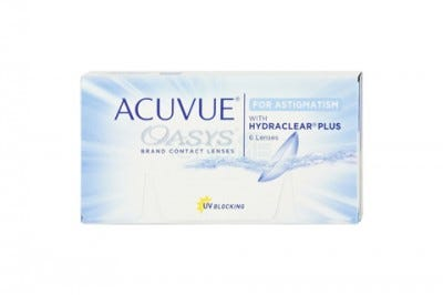 Acuvue Oasys for Astigmatism - toric contact lens for astigmatism